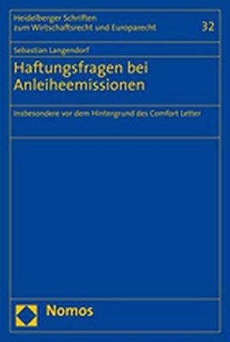 Haftungsfragen bei Anleiheemissionen: Sebastian Langendorf