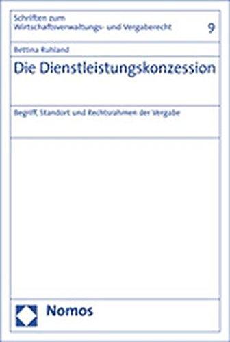9783832920920: Die Dienstleistungskonzession: Begriff, Standort und Rechtsrahmen der Vergabe