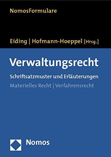 9783832922290: Verwaltungsrecht: Schriftsatzmuster und Erläuterungen