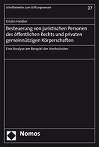 9783832923693: Besteuerung von juristischen Personen des öffentlichen Rechts und privaten gemeinnützingen Körperschaften