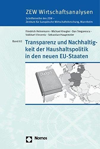 Transparenz und Nachhaltigkeit der Haushaltspolitik in den neuen EU-Staaten: Sebastian Hauptmeier