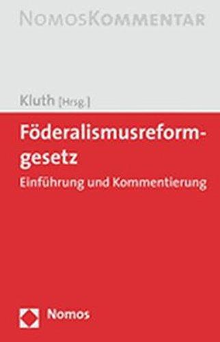Föderalismusreformgesetz: Winfried Kluth