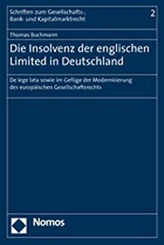 Die Insolvenz der englischen Limited in Deutschland: Thomas Buchmann