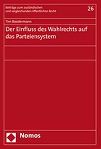 9783832926243: Der Einfluss des Wahlrechts auf das Parteiensystem
