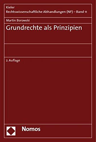 9783832926250: Grundrechte als Prinzipien