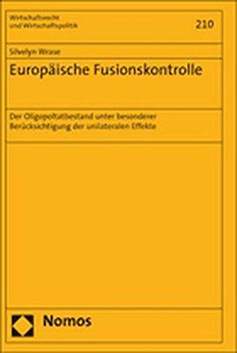 Europäische Fusionskontrolle: Silvelyn Wrase