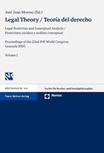 Legal Theory / Teoria Del Derecho, Volume: Moreso, Jose Juan