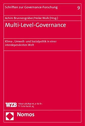 9783832927066: Multi-Level-Governance: Klima-, Umwelt- und Sozialpolitik in einer interdependenten Welt