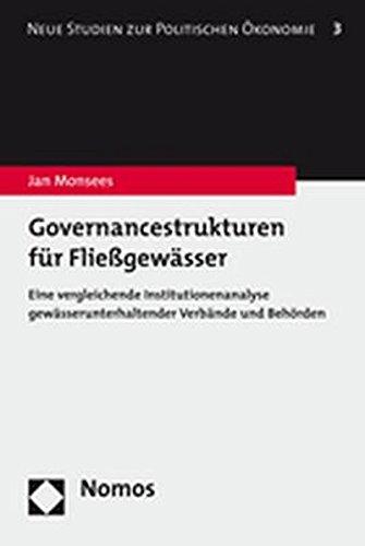 Governancestrukturen für Fließgewässer: Jan Monsees