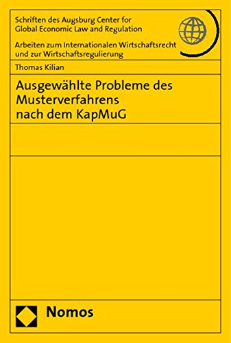 9783832929374: Ausgewählte Probleme des Musterverfahrens nach dem KapMuG