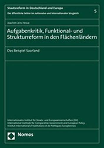 Aufgabenkritik, Funktional- und Strukturreform in den Flächenländern: Joachim Jens Hesse