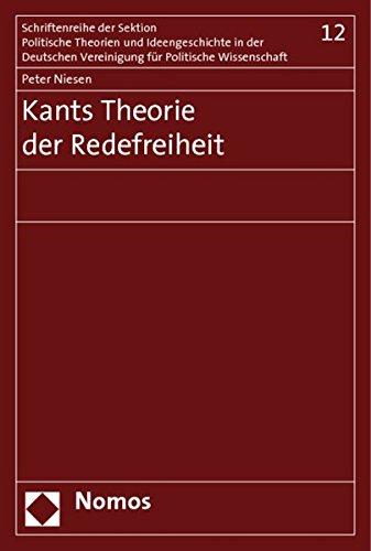 9783832932176: Kants Theorie der Redefreiheit