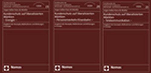 Kundenschutz auf liberalisierten Märkten. 3 Bände: Hans-W. Micklitz