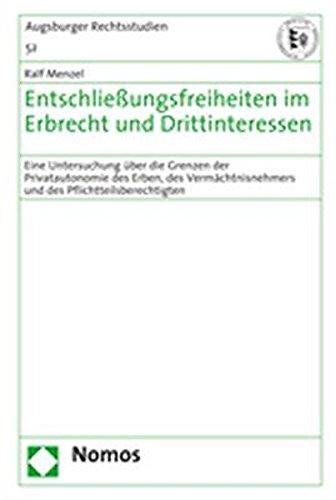 Entschließungsfreiheiten im Erbrecht und Drittinteressen: Ralf Menzel
