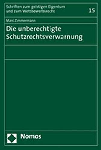 Die unberechtigte Schutzrechtsverwarnung: Marc Zimmermann