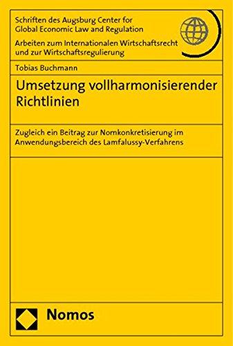 Umsetzung vollharmonisierender Richtlinien: Tobias Buchmann