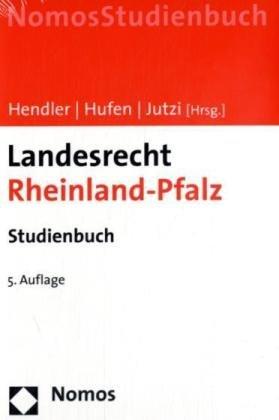 9783832936075: Landesrecht Rheinland-Pfalz