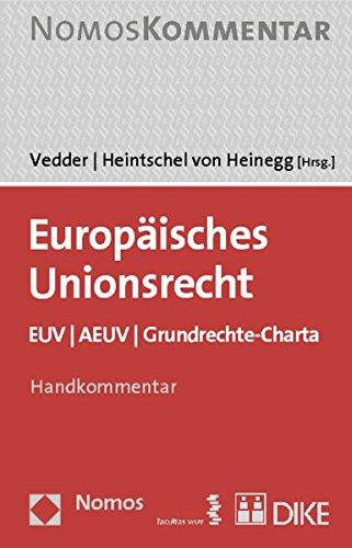 9783832937621: Europaisches Unionsrecht: Euv U Aeuv U Grundrechte-charta (German Edition)