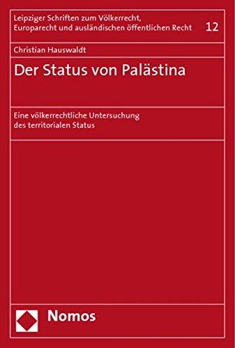 Der Status von Palästina: Christian Hauswaldt
