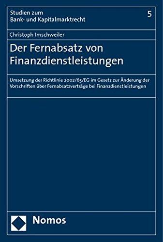 Der Fernabsatz von Finanzdienstleistungen: Christoph Imschweiler