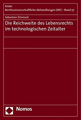 Die Reichweite des Lebensrechts im technologischen Zeitalter: Sebastian Zimmeck