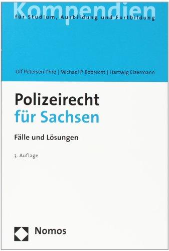 9783832938833: Polizeirecht für Sachsen: Fälle und Lösungen
