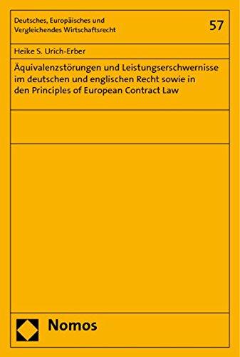 Äquivalenzstörungen und Leistungserschwernisse im deutschen und englischen Recht sowie in...