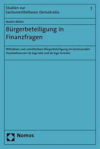 Bürgerbeteiligung in Finanzfragen: Martin Müller