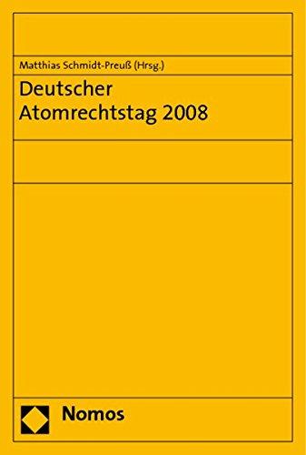 9783832943684: Deutscher Atomrechtstag 2008 (German Edition)