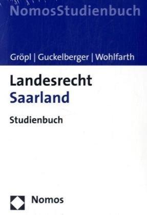 9783832943998: Landesrecht Saarland: Studienbuch