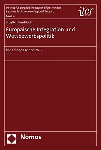 Europäische Integration und Wettbewerbspolitik: Sibylle Hambloch
