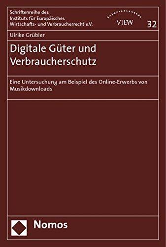 Digitale Güter und Verbraucherschutz: Ulrike Grübler