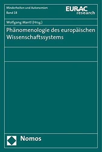 Phänomenologie des europäischen Wissenschaftssystems: Wolfgang Mantl