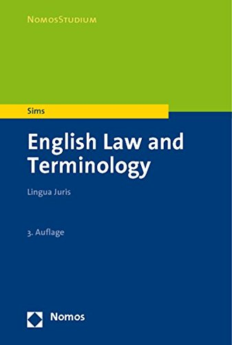 9783832949518: English Law and Terminology: Lingua Juris (Nomosstudium)