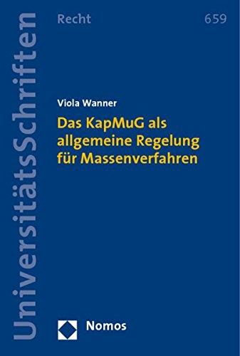 9783832950927: Das KapMuG als allgemeine Regelung für Massenverfahren