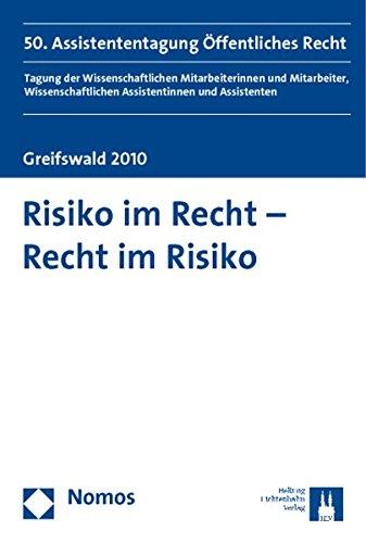Risiko im Recht - Recht im Risiko: Jörg Scharrer