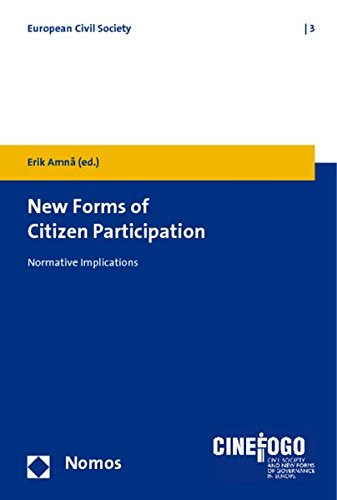 9783832952402: New Forms of Citizen Participation: Normative Implications (European Civil Society)