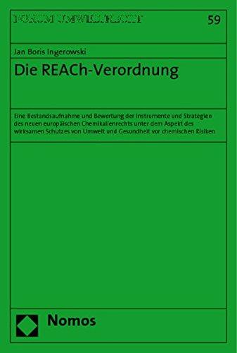 Die REACh-Verordnung: Jan Boris Ingerowski