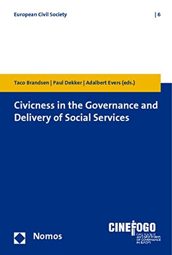 9783832954208: Civicness in the Governance and Delivery of Social Services (European Civil Society)