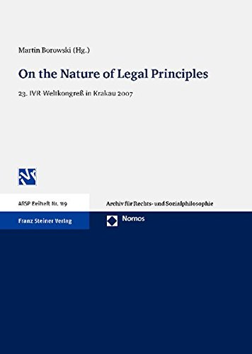 9783832954987: On the Nature of Legal Principles: Proceedings of the Special Workshop