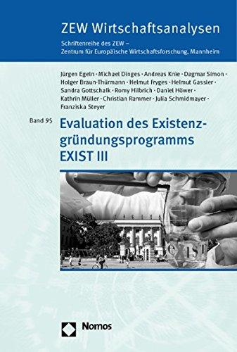 Evaluation des Existenzgründungsprogramms EXIST III: Jürgen Egeln