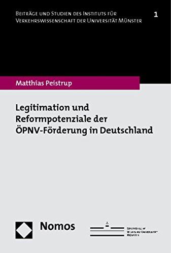 9783832955434: Legitimation und Reformpotenziale der �PNV-F�rderung in Deutschland