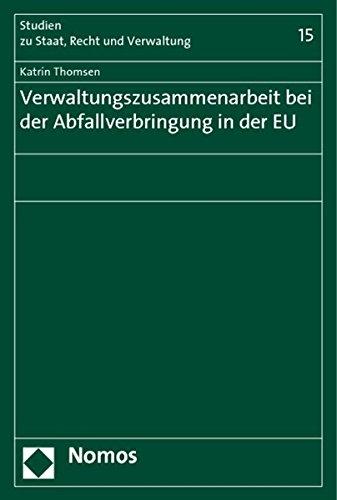 9783832955632: Verwaltungszusammenarbeit bei der Abfallverbringung in der EU