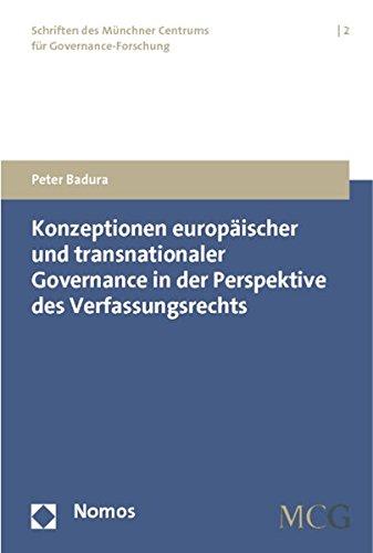 Konzeptionen europäischer und transnationaler Governance in der Perspektive des ...