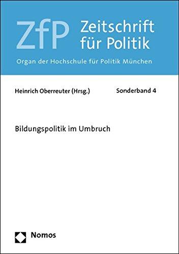 9783832960490: Bildungspolitik im Umbruch: ZfP - Sonderband 4