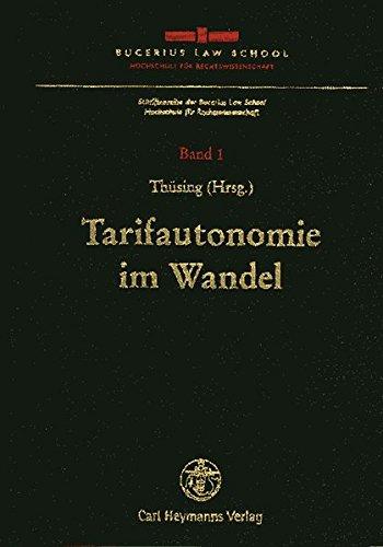Tarifautonomie im Wandel: Gregor Thüsing