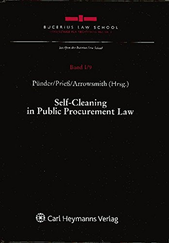 9783832960766: Self-Cleaning in Public Procurement Law