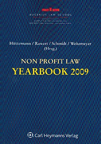 Non Profit-Law Yearbook 2009: Rainer Hüttemann
