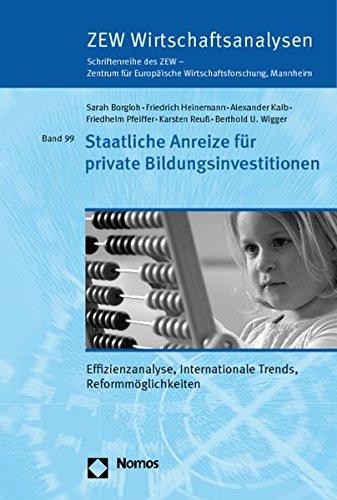 Staatliche Anreize für private Bildungsinvestitionen: Sarah Borgloh