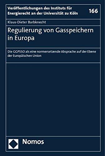 Regulierung von Gasspeichern in Europa: Klaus-Dieter Barbknecht